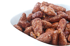 Roasted almonds in a bowl Royalty Free Stock Image