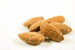 Roasted almonds - isolated Stock Photo