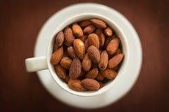 Roasted Almonds in Salt Stock Photos