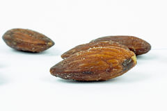 Roasted almonds with salt Royalty Free Stock Photos