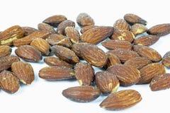 Roasted almonds with salt Stock Photos