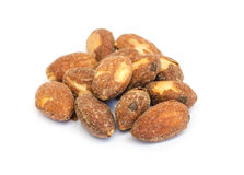 Roasted almonds . Royalty Free Stock Images