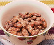 Roasted Almonds. Some roasted almonds with sugar Stock Images