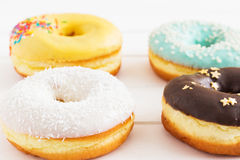 Roasted american donuts Royalty Free Stock Images