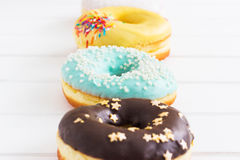 Roasted american donuts Stock Images