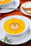 Roasted Apple Pumpkin Soup Royalty Free Stock Photography