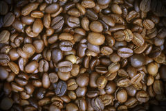 Roasted arabica coffee beans. Can be used as a background Royalty Free Stock Photos