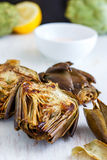Roasted Artichokes. A perfect starter for any dinner party Stock Images
