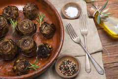 Roasted Artichokes Royalty Free Stock Images