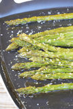 Roasted asparagus Stock Images