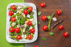 Roasted Asparagus and Cherry Tomatoes Royalty Free Stock Image