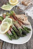 Roasted asparagus Stock Photos
