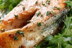 Roasted atlantic salmon . Royalty Free Stock Image