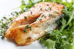 Roasted atlantic salmon . Royalty Free Stock Photos