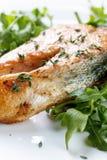 Roasted atlantic salmon . Royalty Free Stock Images