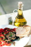 Roasted aubergine with tomatoes Stock Images