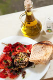 Roasted aubergine with tomatoes Stock Photography