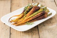 Roasted Baby Carrots Stock Photo