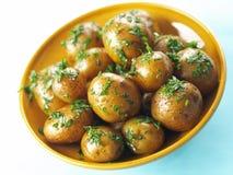 Roasted baby potatoes Stock Photo
