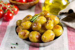 Roasted baby potatoes with rosemary Royalty Free Stock Image