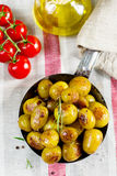 Roasted baby potatoes with rosemary Stock Photography