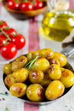 Roasted baby potatoes with rosemary Royalty Free Stock Photos