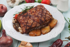 Roasted bacon Royalty Free Stock Image