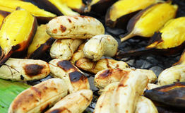 Roasted banana Stock Images