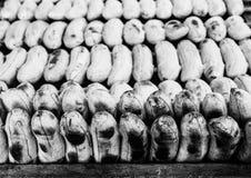 Roasted Banana. Horizon roasted banana stab on roaster Stock Image