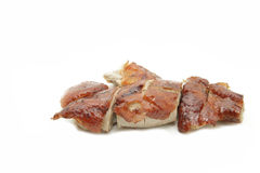 Roasted barbecue duck and pork Stock Photo