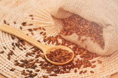 Roasted barley tea in the sack Royalty Free Stock Image