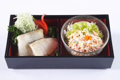 Roasted Barramundi (Seabass) fillet and japanese mayonnaise sala Stock Images