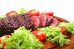 Roasted beef meat steak  on plate Royalty Free Stock Photography
