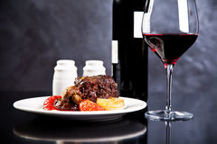 Roasted beef with red wine Stock Image