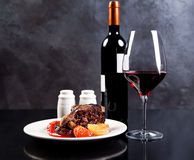 Roasted beef with red wine Royalty Free Stock Photo