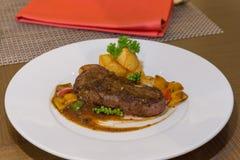 Roasted Beef Steak Royalty Free Stock Photos