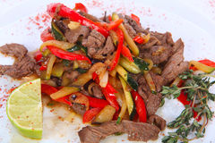 Roasted beef Stock Image