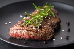 Roasted beefsteak. Image of a roasted beefsteak stock images