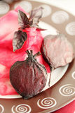 Roasted beet and cabbage Royalty Free Stock Photos