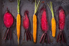 Roasted beets and carrot Royalty Free Stock Photo