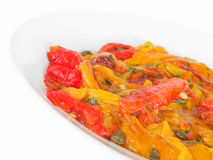 Roasted Bell Pepper Salad. Royalty Free Stock Photo