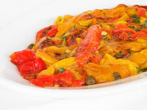 Roasted Bell Pepper Salad. Royalty Free Stock Photos