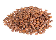 Roasted black coffee beans Royalty Free Stock Image