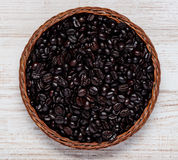 Roasted Black Coffee Beans Stock Photos
