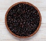 Roasted Black Coffee Beans stock photos