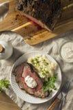Roasted Boneless Prime Beef Rib Roast stock image