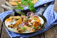 Roasted bread dumplings Stock Photos