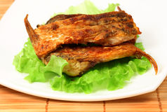 Roasted bream on a plate Royalty Free Stock Image