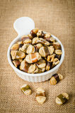 Roasted broad beans with salted. Stock Images