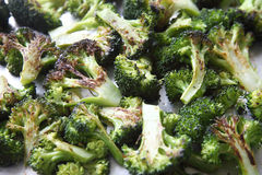 Roasted broccoli florets Royalty Free Stock Photography